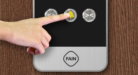 Botón de alarma de ascensor