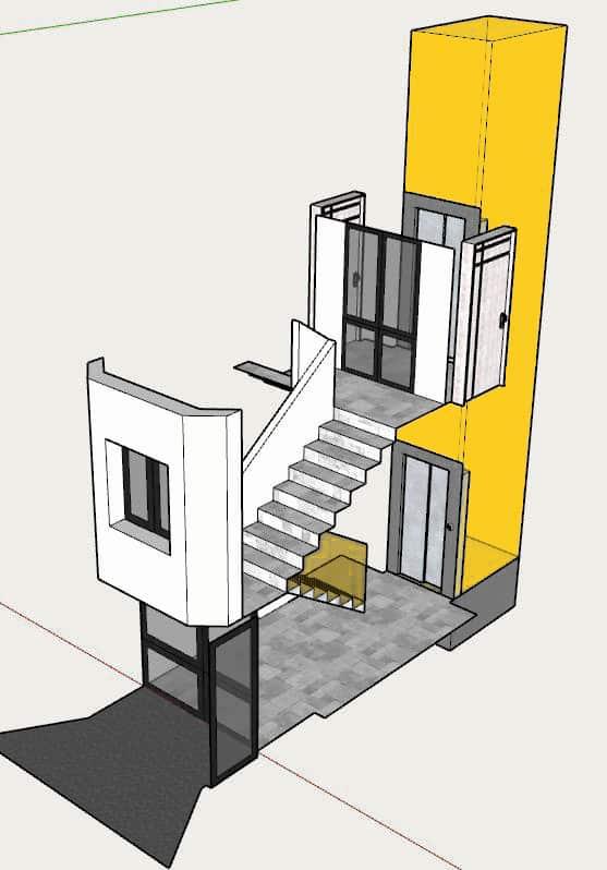 Acensor bajada a cota cero en comunidad de propietarios (después de la obra)