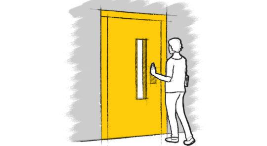 puerta de ascensor cerrada