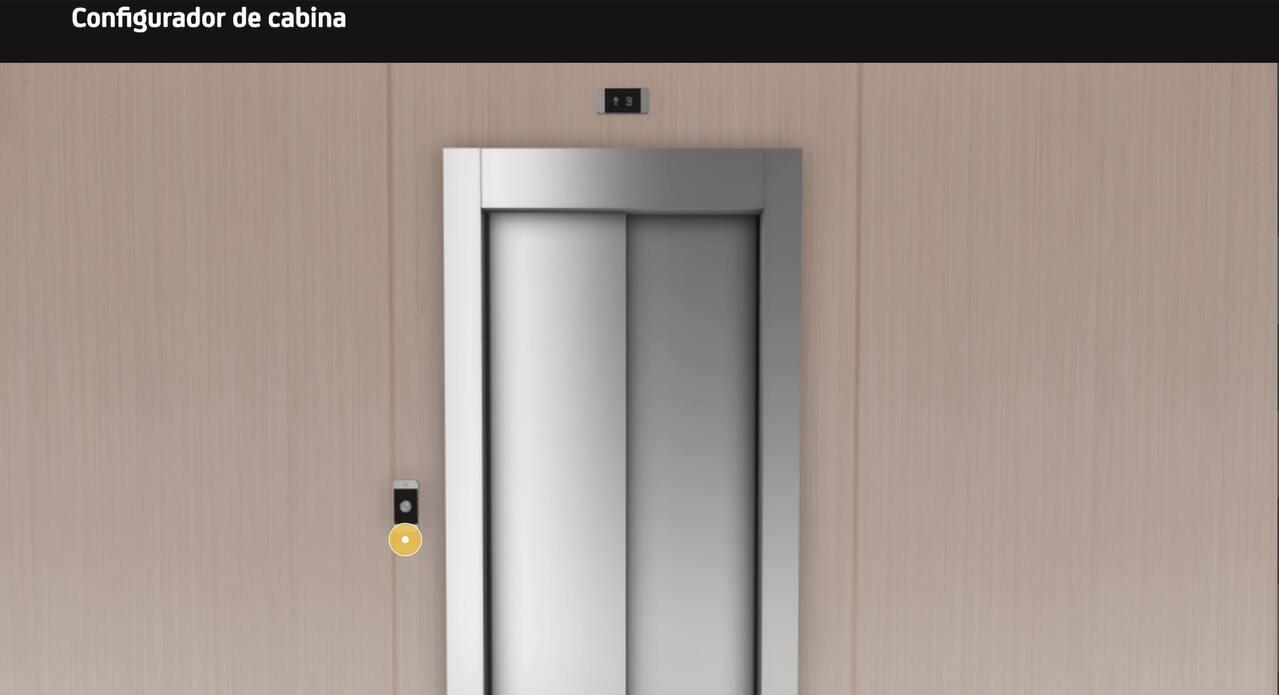 Configurador de cabina de ascensor
