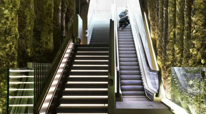 Escalera mecánica del metro de Granada